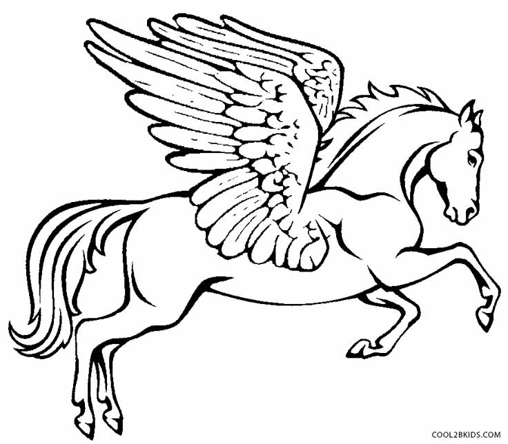 Free Pegasus Coloring Pages - Coloring Home | 644x736