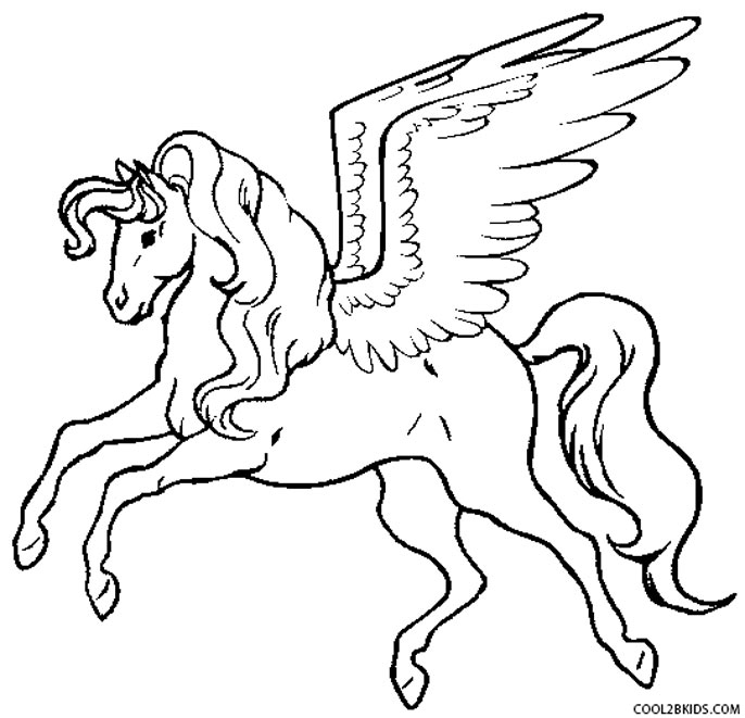 Printable Pegasus Coloring Pages For Kids Cool2bkids Print Coloring Pages