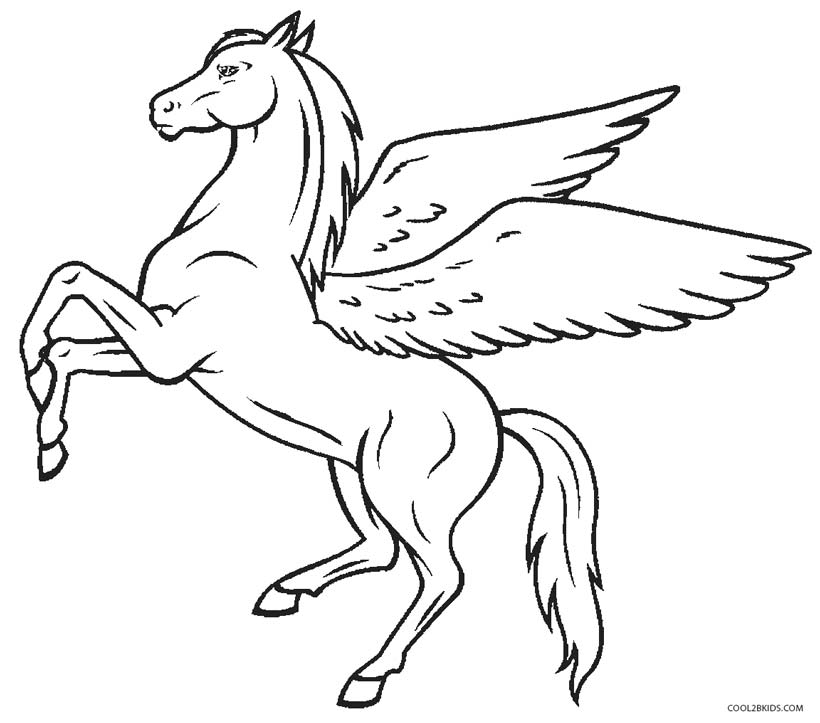 coloring pages of pegasus printable pegasus coloring pages for kids cool2bkids