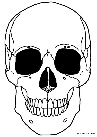 Skeleton Coloring Pages on Simple Shapes Coloring Pages