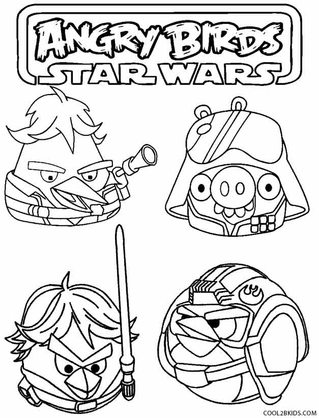 star wars angry birds coloring pages - Angry Birds Star Wars Coloring Pages