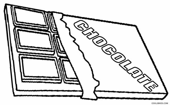 Free Coloring Pages Of Chocolate Bar Coloring Pages Chocolate
