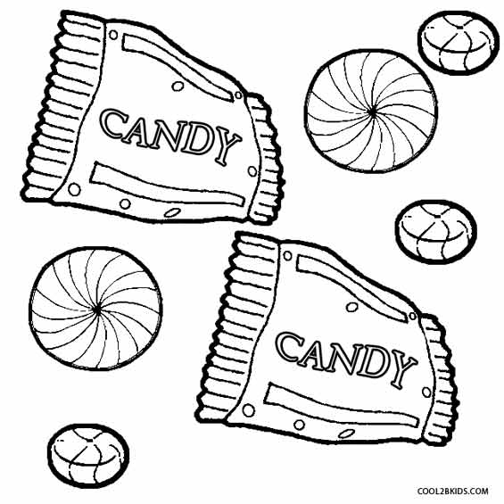 Printable Candy Coloring Pages