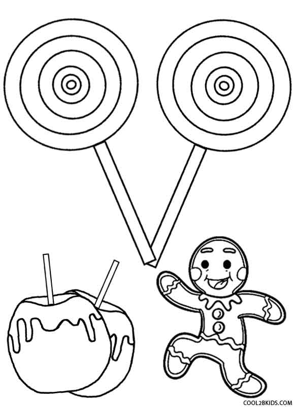 Candy coloring pages to print