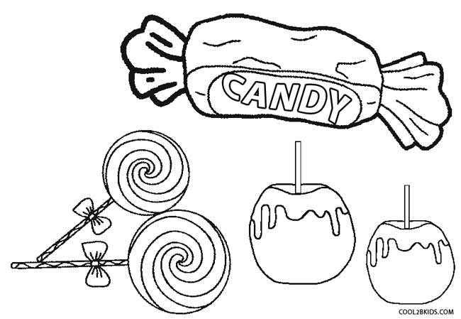 coloring pages fo candy - photo#2
