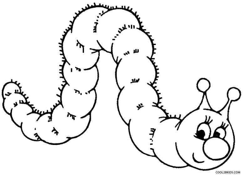 Cartoon Caterpillar Coloring Pages