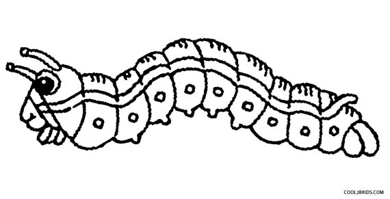 - Printable Caterpillar Coloring Pages For Kids