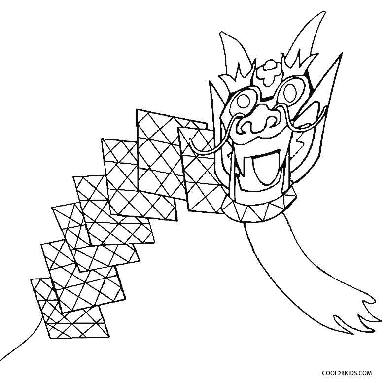 kite coloring pages - photo#18