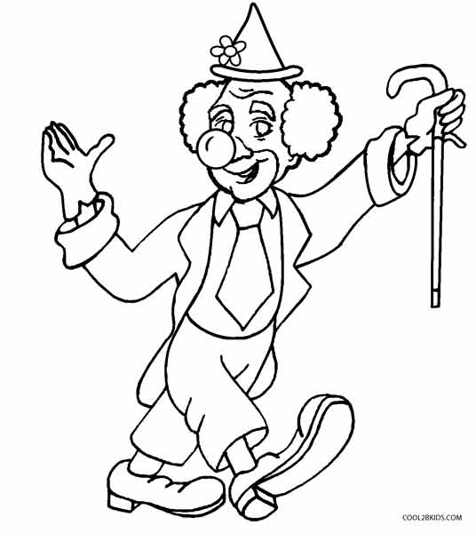Printable Clown Coloring Pages For Kids | Cool2bKids