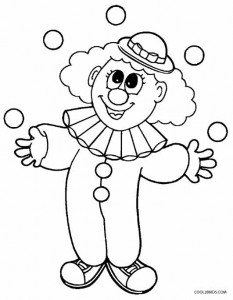 Clown Coloring Pages for Preschoolers