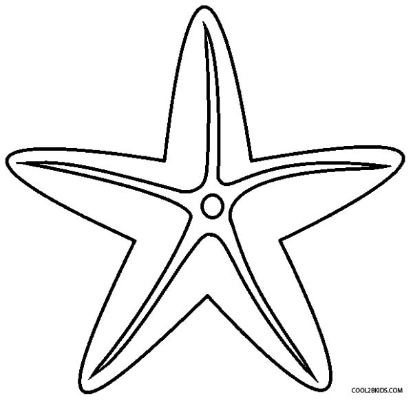 photo relating to Printable Starfish called Printable Starfish Coloring Internet pages For Children Interesting2bKids