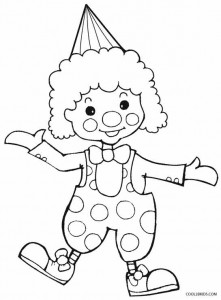 Girl Clown Coloring Pages