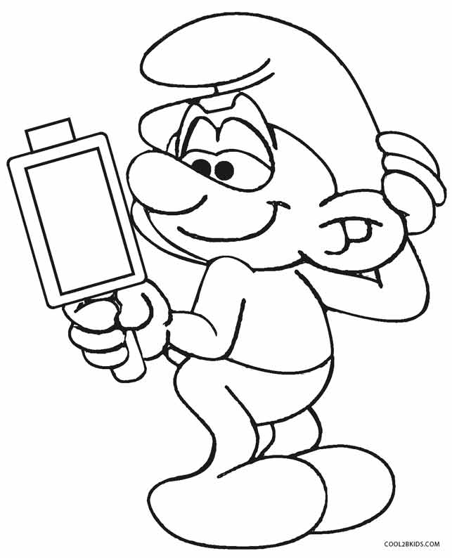 the smurffs coloring pages - photo#19