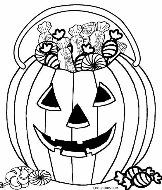 Printable Candy Coloring Pages For Kids