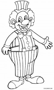 Happy Clown Coloring Pages