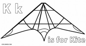 K for Kite Coloring Pages