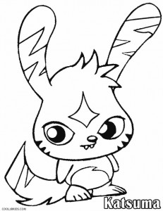 Moshi Monsters Coloring Pages Katsuma