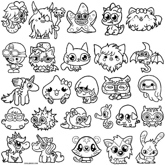Moshi Monsters Coloring Pages Moshlings
