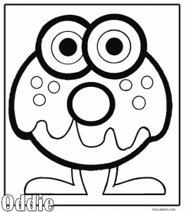 Moshi Monsters Coloring Pages Oddie