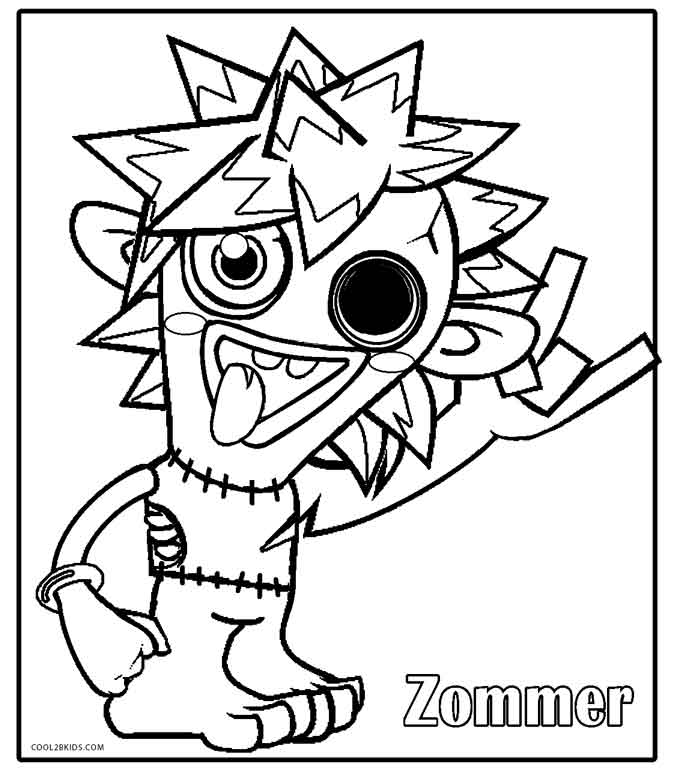 Moshi Monsters Coloring Pages | Team colors | 771x680