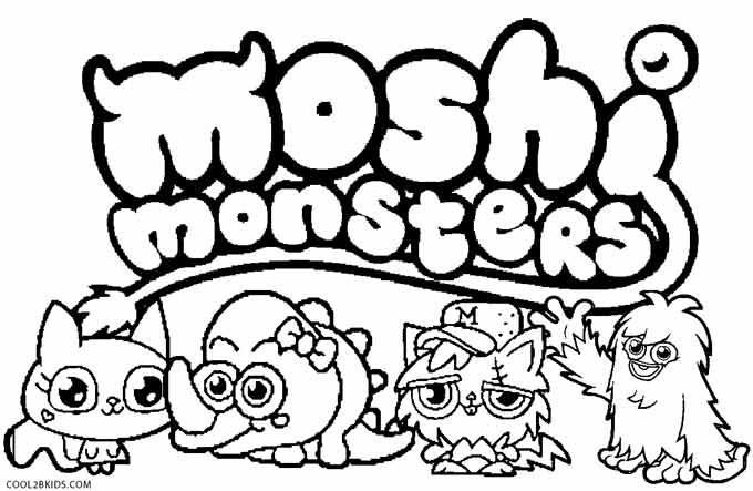 Printable Moshi Monsters Coloring Pages For Kids | Cool2bKids