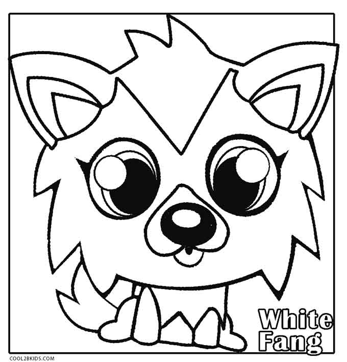 Moshi Monsters White Fang Coloring Pages