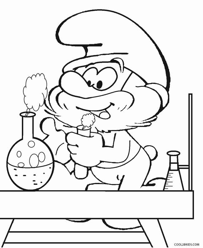 smurf coloring pages free - Smurf Coloring Pages