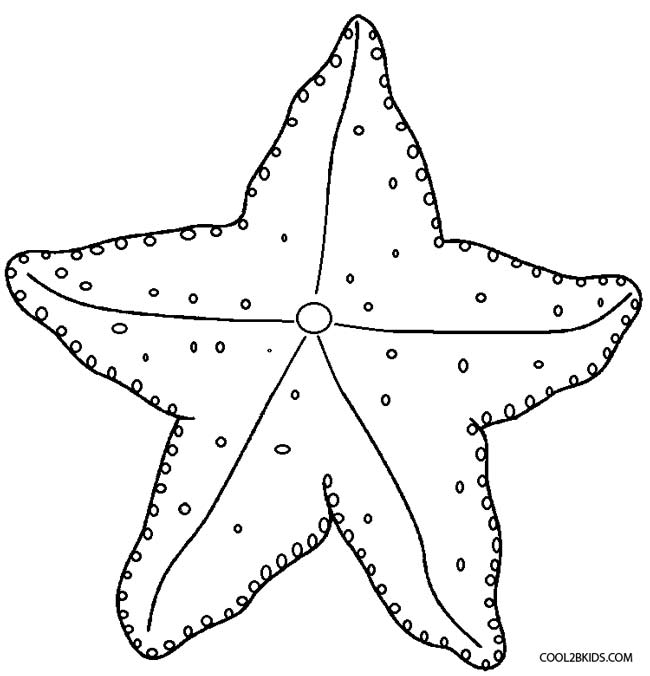 starfish coloring page free - Starfish Coloring Pages