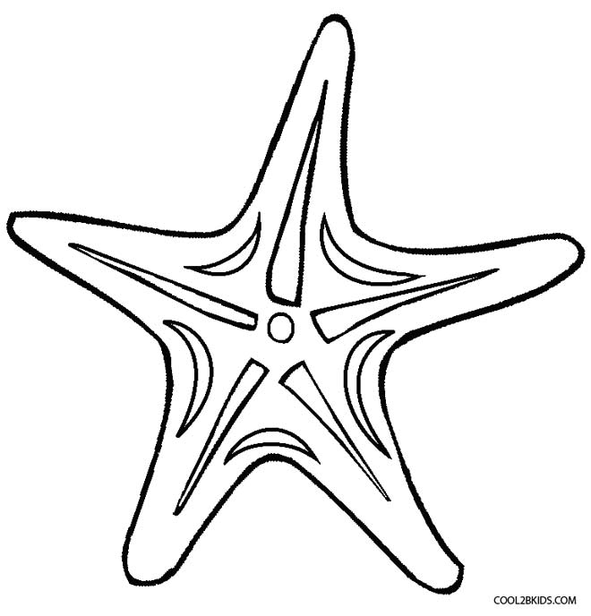 Star, Starfish or Sea Star Coloring Pages | 688x660