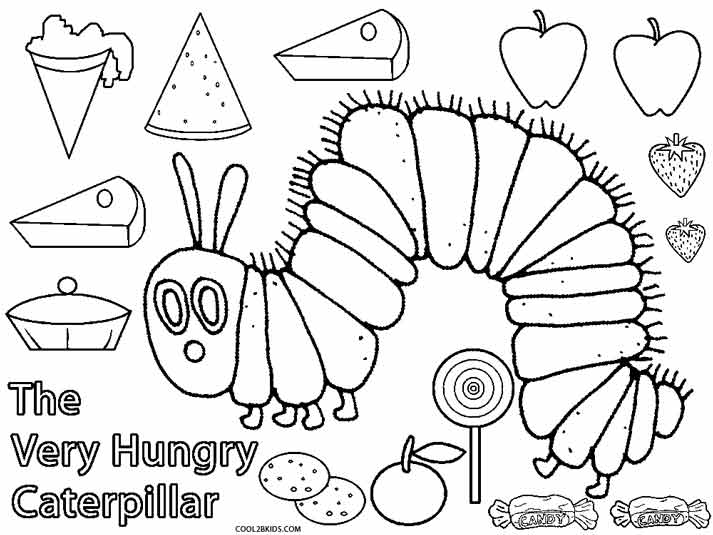 Printable Caterpillar Coloring Pages For Kids | Cool9bKids