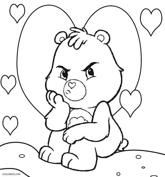 image about Care Bear Belly Badges Printable known as Printable Treatment Bears Coloring Internet pages For Youngsters Neat2bKids