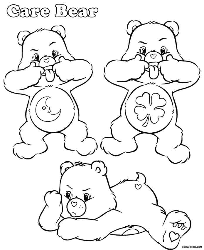 carebear cousin coloring pages - photo#6