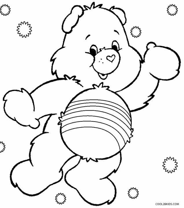 Care Bears Coloring Pages Cheer Bear