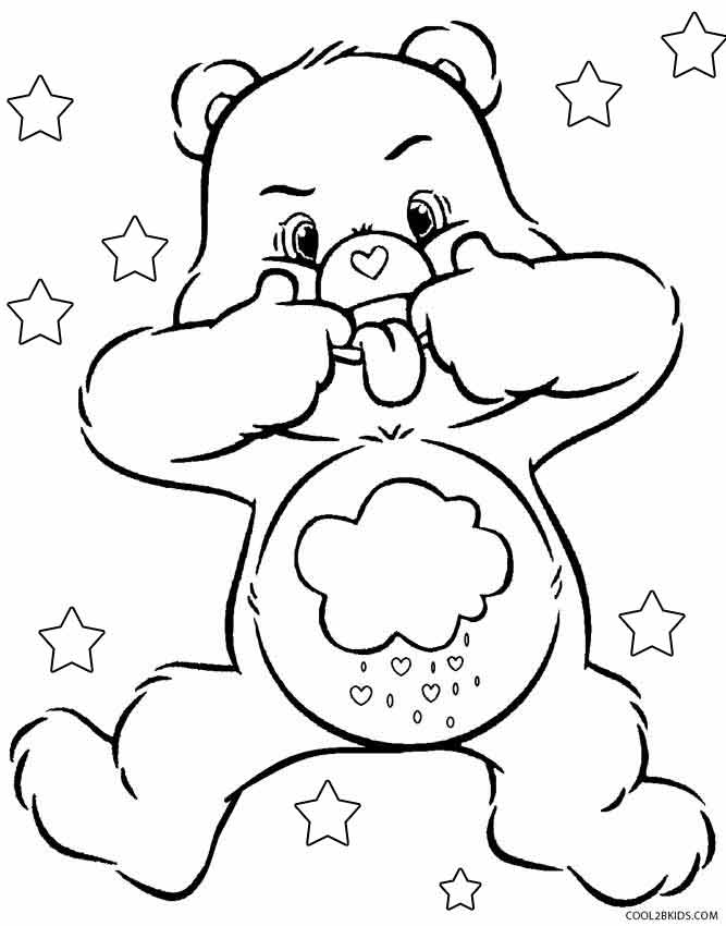 Printable Care Bears Coloring Pages For Kids Cool2bkids - care bear colouring pages to print