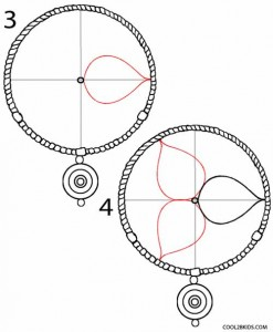 How to Draw a Dreamcatcher Step 2