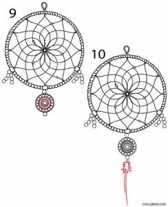 How to Draw a Dreamcatcher Step 5