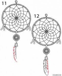 How to Draw a Dreamcatcher Step 6