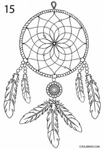 How to Draw a Dreamcatcher Step 8