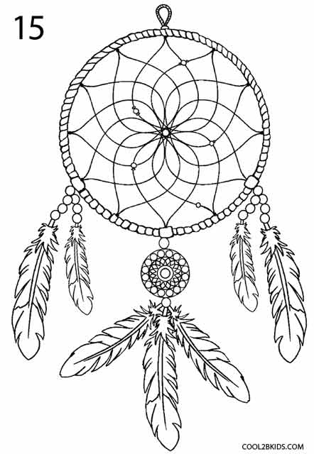 How To Draw A Simple Dream Catcher How to Draw a Dreamcatcher Step by Step Cool40bKids 3