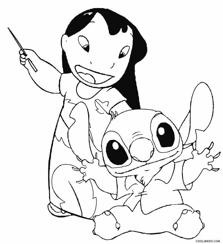 free stitch coloring pages - photo#34