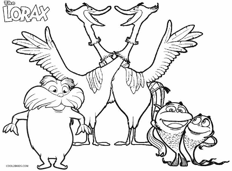 Lorax Bears Coloring Pages