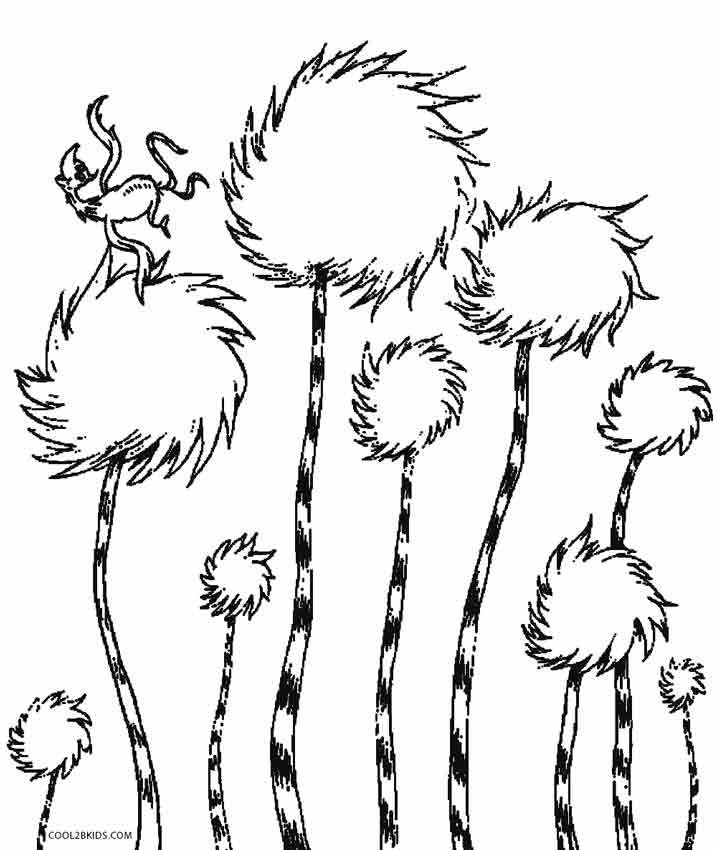 lorax trees coloring pages