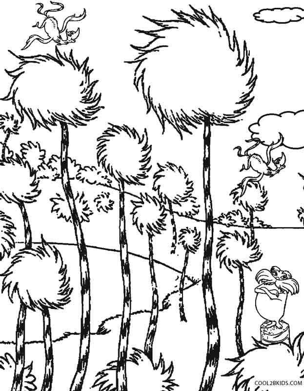 Printable Lorax Coloring Pages Kids Cool Bkids