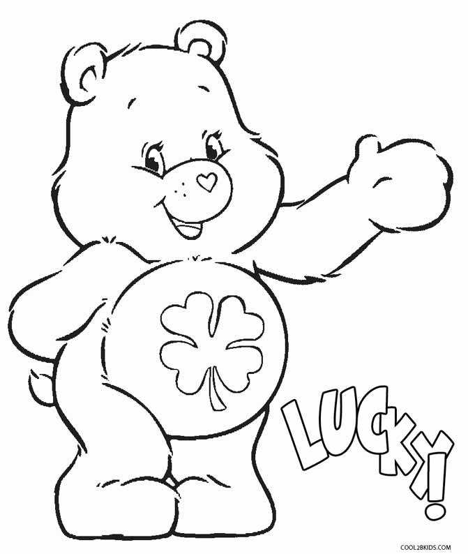 Free coloring pages of care bears