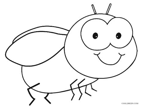 free printable bug coloring pages - photo#27