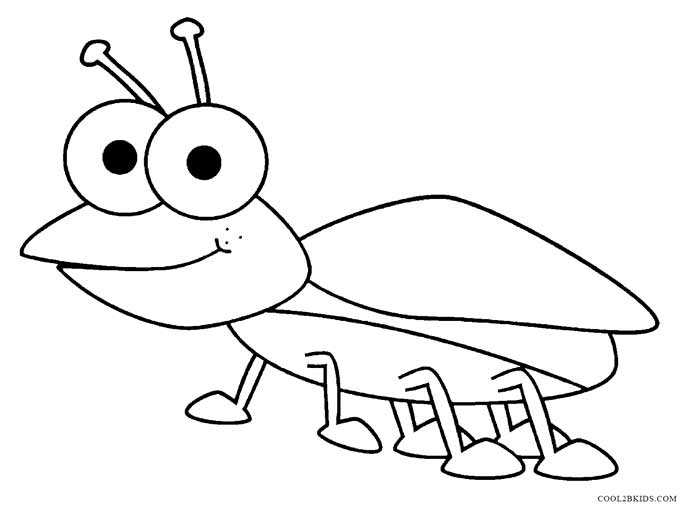 free printable bug coloring pages - photo#8