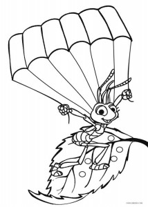 Printable bug coloring pages for kids cool2bkids for Bugs life coloring pages