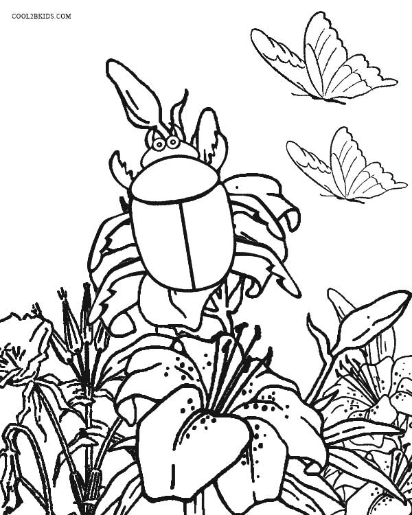Free Garden Bug Coloring Pages