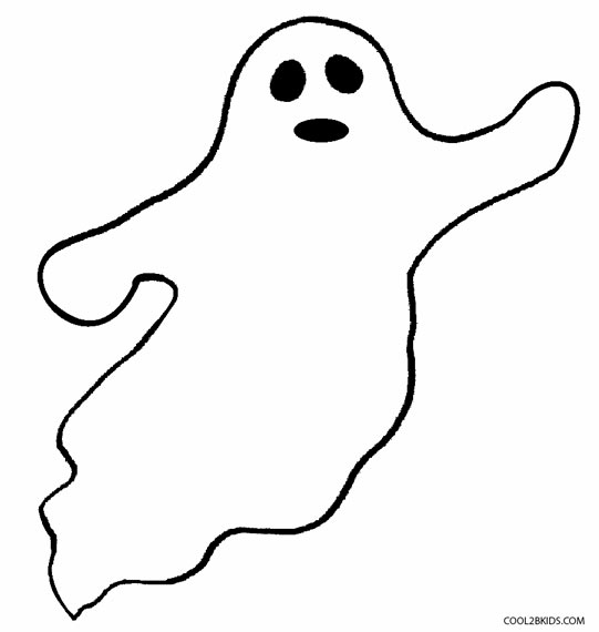 ghost coloring pages kids