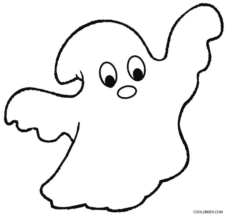 Printable Ghost Coloring Pages For Kids
